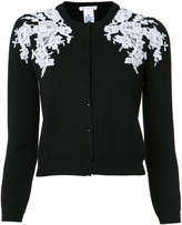 Oscar de la Renta lace applique cardigan