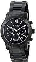 A Line a_line Women's AL-80597-BB-11 Sophi Chic Analog Display Japanese Quartz Black Watch