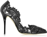 Oscar de la Renta Alyssa Black Patent Leather Pump