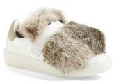 Moncler Women's 'Lucie' Genuine Rabbit Fur Trim Sneaker