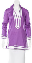 Tory Burch Long Sleeve Embroidered Tunic