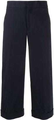 Neil Barrett Wide Leg Cropped Trousers