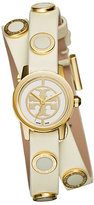Tory Burch Reva Mini Double-Wrap Leather Watch