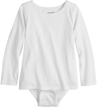 Girls 4-12 Jumping Beans Adaptive Long Sleeve Mock-Layer Bodysuit