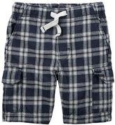 Carter's Baby Boy Plaid Cargo Shorts