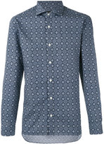 Z Zegna tiled pattern shirt