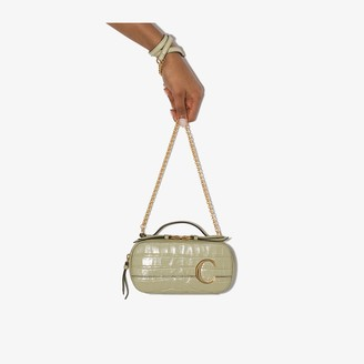 Chloé Green C Vanity mock croc mini bag