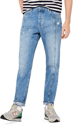 Find. Amazon Brand Men's Cut and Sew Tapered Fit Jeans