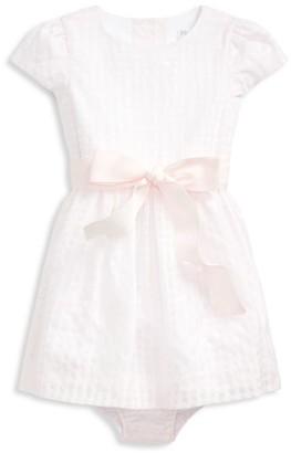 Ralph Lauren Baby Girl's 2-Piece Windowpane Plaid Dress & Bloomers Set