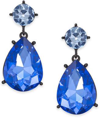 Thalia Sodi Black-Tone Stone Drop Earrings