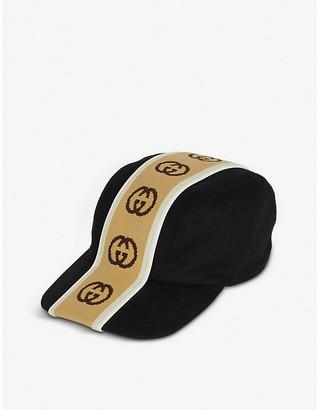 Gucci Logo-stripe wool baseball cap