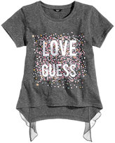 GUESS Sequin Love Graphic-Print T-Shirt, Big Girls (7-16)