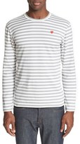Comme des Garcons Men's Long Sleeve Stripe Crewneck T-Shirt