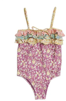 Zimmermann Kids Carnaby Floral Swimsuit (2-10 Years)