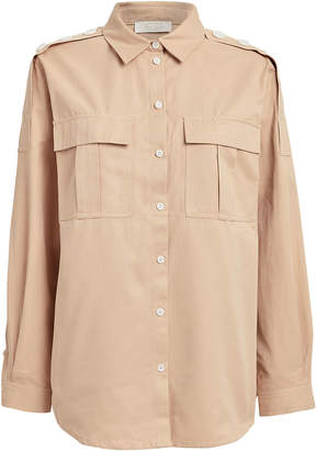 Notes Du Nord Mia Button Front Twill Shirt