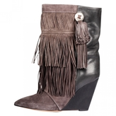 Isabel Marant Grey Leather Ankle boots