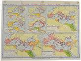 Rejuvenation Mid-Century Denoyer-Geppert Map Book of the Roman Dominion c1955