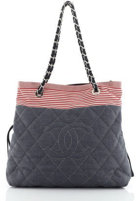 Chanel Stretch Spirit Chain Tote Denim Medium