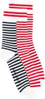 MAISON KITSUNÉ striped socks