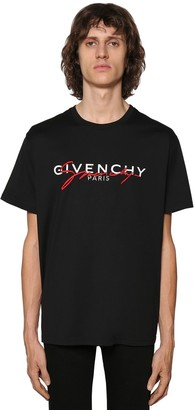 Givenchy EMBROIDERED LOGO COTTON T-SHIRT