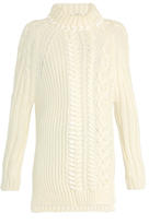 Fendi High-neck cable-knit wool sweater