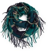 David & Young Women's Plaid Infinity Scarf