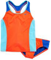 Nike 2-pc. Colorblock Tankini Swimsuit - Girls 7-16