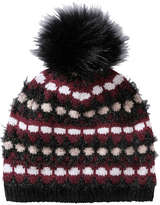 Joe Fresh Women's Faux Fur Pompom Hat, Navy (Size O/S)