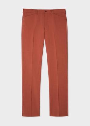 Men's Brick Wool-Mohair Trousers