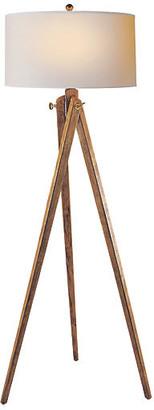 Tripod Floor Lamp - French Wax - Visual Comfort