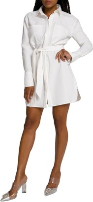 Good American Committed to Fit Long Sleeve Shirtdress