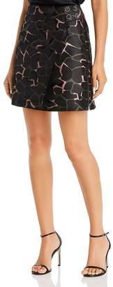 Giorgio Armani Printed A-Line Mini Wrap Skirt