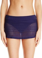 Anne Cole Women's Lace Crochet Skirt Bikini Bottom