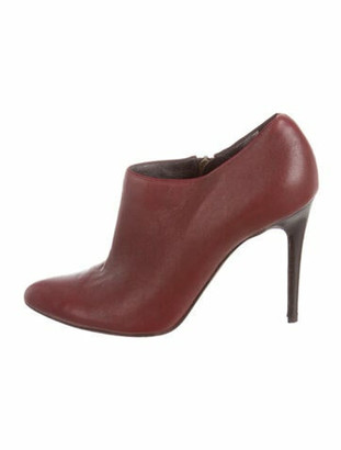 Lanvin Leather Boots Red