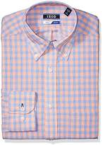 Izod Men's Dress Shirts Regular Fit Stretch Multi Check
