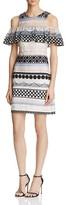 Parker Eleni Cold-Shoulder Embroidered Dress