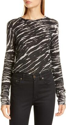 Proenza Schouler Tiger Stripe Cotton Top