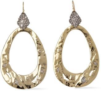 Alexis Bittar Gold-tone Crystal Earrings