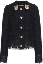 Dolce & Gabbana Cat Button Embroidered Jacket