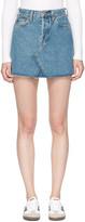 RE/DONE Re-done Blue Originals Denim High-rise Rigid Miniskirt