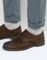 Frank Wright Suede Brogues