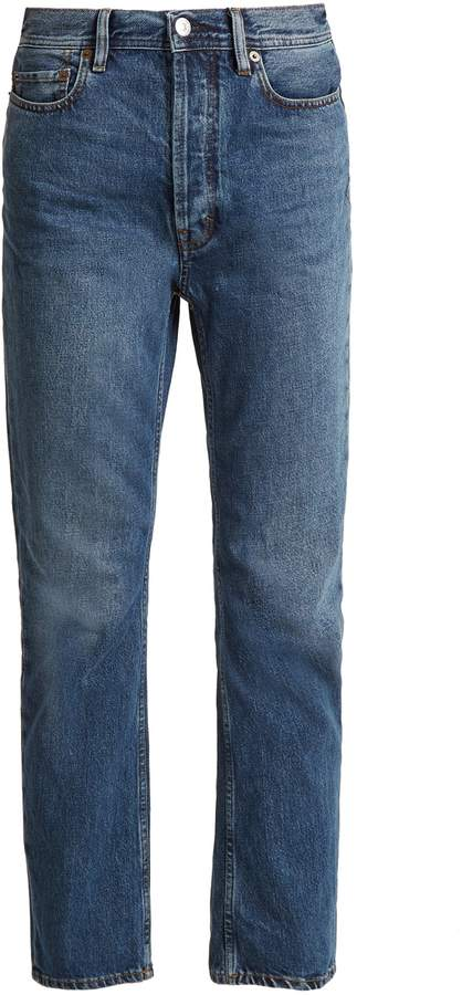 Acne Studios Blå Konst Log low-rise straight-leg jeans
