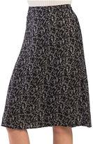 Kensie Doodle Faces Midi Skirt