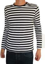 Fuzzdandy - Mens Striped Tee T-shirt Mod Nautical Preppy Long Sleeve Top