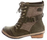 Sorel Herringbone Slimboot Ankle Boots