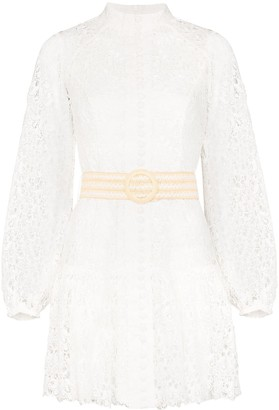 Zimmermann Guipure-Lace Mini Dress