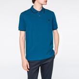 Paul Smith Men's Turquoise PS Logo Organic-Cotton Polo Shirt