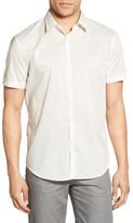 Star USA By John Varvatos Trim Fit Print Short Sleeve Sport Shirt