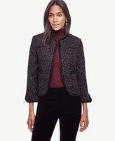 Ann Taylor Petite Shimmer Tweed Jacket