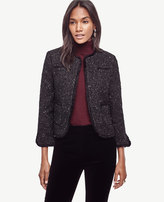 Ann Taylor Shimmer Tweed Jacket